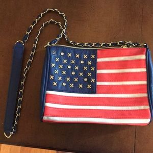NWOT American flag Betsey Johnson crossbody bag